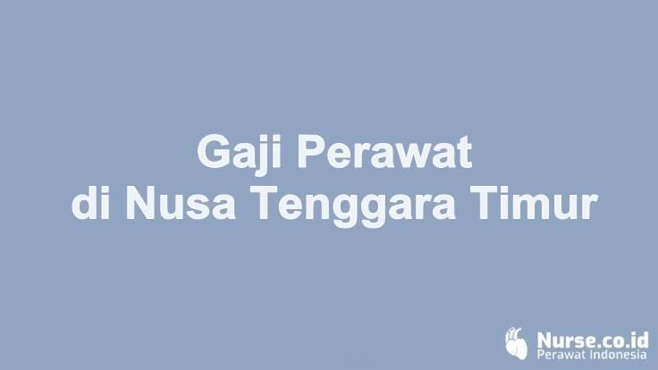 Gaji Perawat di Provinsi Nusa Tenggara Timur - nurse.co.id